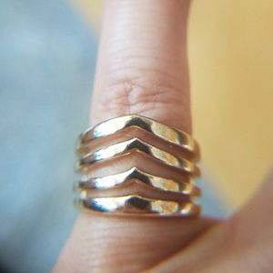 Jewelry - Gold plated stainless steel Band ring size 4.5